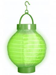 Lanterne lumineuse verte 15 cm