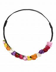 Couronne fleurs multicolores femme
