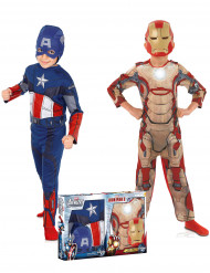 Coffret déguisements enfant Captain America™ et Iron Man™ - Avengers™ Coffret