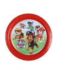 8 Petites Assiettes en carton Pat'Patrouille™ rouge 18 cm
