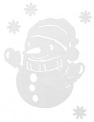 Décorations bonhomme de neige pour fenêtre Noël