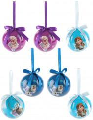 7 Boules La reine des neige™ 7,5 cm Noël