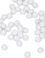 50 Mini pompons blancs