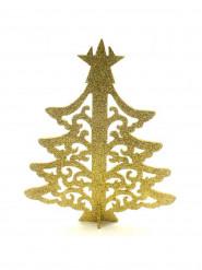 Arbre de Noël marque-place doré