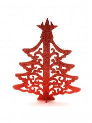 Arbre de Noël marque-place rouge
