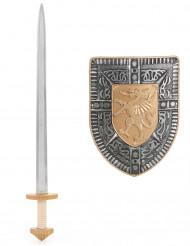 Kit épée et bouclier en plastique pour Enfant