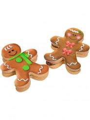 9 Décorations en sucre bonhommes en pain d'épices pour biscuits Noël