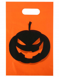 10 Sacs en plastique citrouille Halloween 16.5 x 23 cm