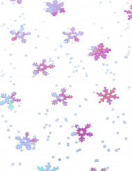 Confettis à relief flocons Noël violet et blanc