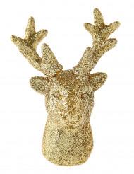 2 Petites figurines rennes dorés