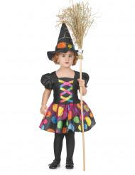 Déguisement sorcière colorée fille