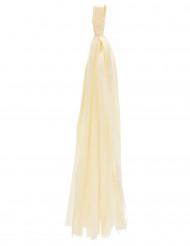 6 Pompons tassel ivoire 35 cm