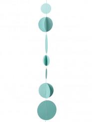 Guirlande disques 3D menthe 3.6 mètres