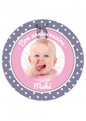 Disque en sucre personnalisable Sweety Birthday 20 cm