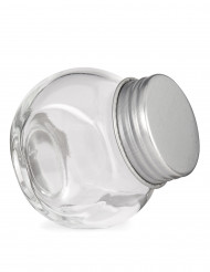 Petit bocal en verre avec couvercle en acier 5 cm