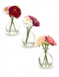 1 Petit vase de fleurs artificielles