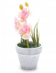 Petite orchidée artificielle rose