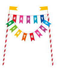 Décoration pour gâteau Happy Birthday