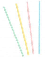 20 Pailles cartonnées pastels
