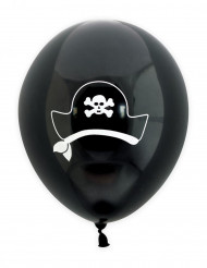 6 Ballons latex pirate 25 cm