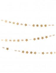 Guirlande mini étoiles dorées pailletées 3 m