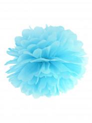Pompon à suspendre en papier bleu ciel 25 cm