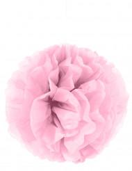 Pompon à suspendre en papier rose 35 cm