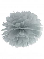 Pompon à suspendre en papier gris 35 cm