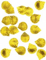 100 Pétales de rose en tissu doré 5 x 5 cm