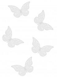 10 Confettis de table papillons nacrés