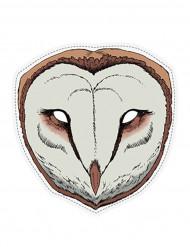 Masque papier cartonné Chouette
