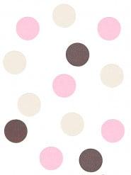 Confettis de table rose, crème et chocolat
