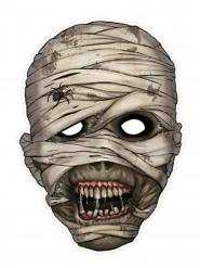 Masque papier cartonné momie