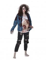 Déguisement zombie ventre en latex femme Halloween