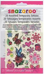 20 Tatouages temporaires filles Snazaroo™