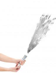 Canon à confettis argentés 20 cm
