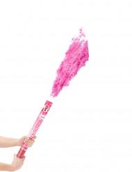 Canon à confettis roses 60 cm