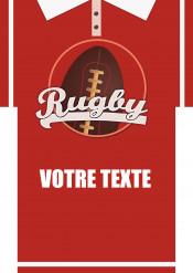 Feuille en sucre A3 personnalisable maillot de rugby