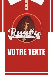 Feuille en sucre A4 personnalisable maillot de rugby