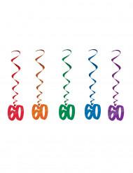 5 Suspensions spirales 60 ans