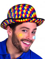 Chapeau melon multicolore clown adulte