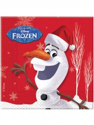 20 Serviettes en papier Olaf Christmas™