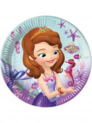 8 Assiettes en carton Princesse Sofia sirène™ 23 cm