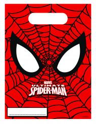 6 Sacs cadeaux Ultimate Spiderman™ 16,5 x 23 cm