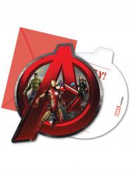 6 Cartes d'invitation + enveloppes Avengers L'ère d'Ultron™