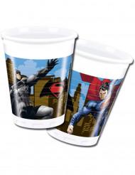 8 Gobelets en plastique Batman vs Superman™ 200 ml
