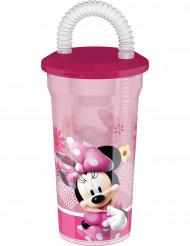 Verre/gourde en plastique avec paille Minnie™