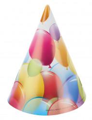 6 Chapeaux de fête ballons volants