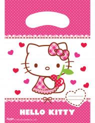 6 Sacs cadeaux Hello Kitty™ 16.5 x 23 cm