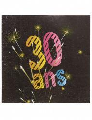 20 Serviettes en papier 30 ans feux d'artifice 33 x 33 cm
